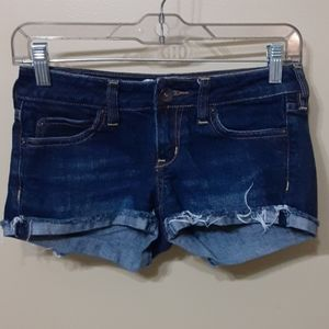Bullhead Denim Shorts / size: 0 / Dark Wash
